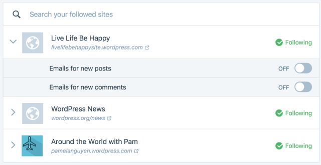 followed sites 2
