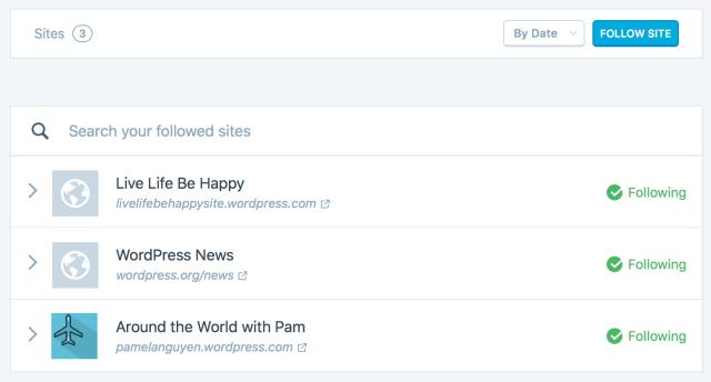 followed sites