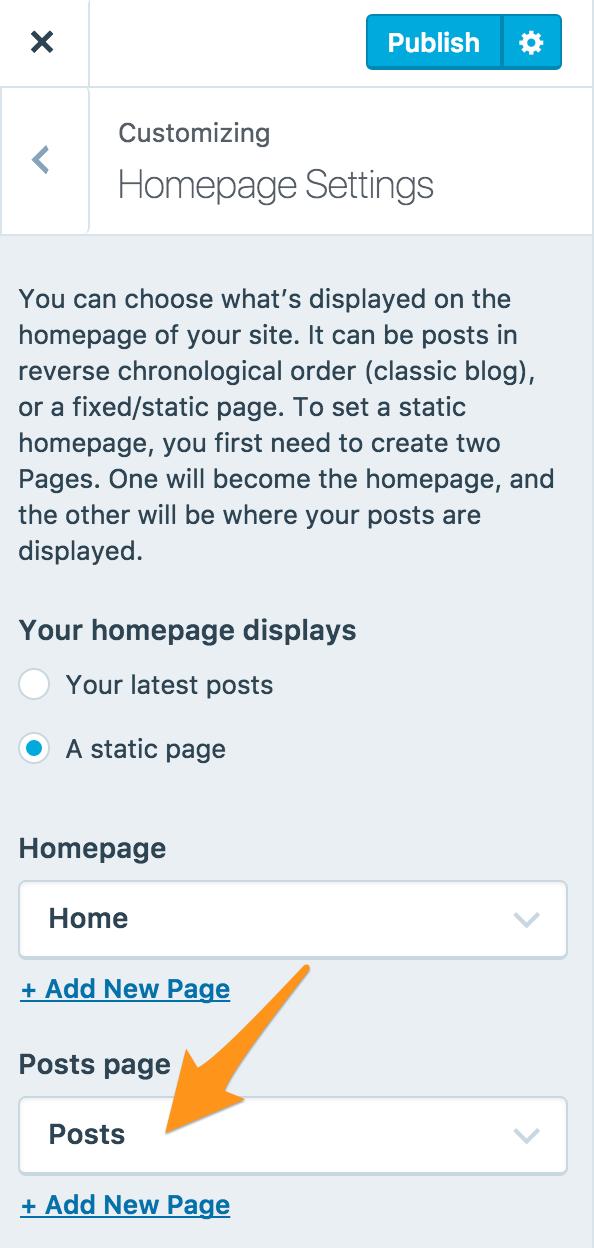 Classic homepage